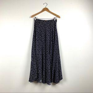 Vintage Roper Scalloped Hem Maxi Skirt